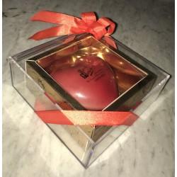 Coeur Chocolat dans écrins bijou Taille 2