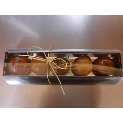5 clémentines confites et ganache chocolat