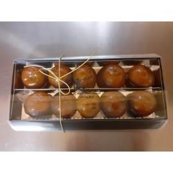 10 clémentines confites et ganache chocolat